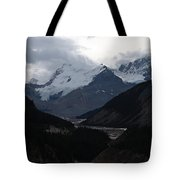 Clouds And Snow In The Mountains Tote Bag