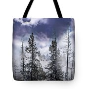 Clouds And Snow Swirling Tote Bag