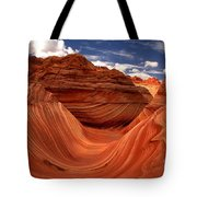 Clouds And Sun Over The Wave Tote Bag