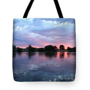 Clouds And Sunset Reflection In Prosser Tote Bag