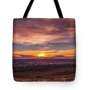 Clouds And Sunset Tote Bag
