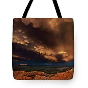 Clouds And Thunderstorm Bryce Canyon National Park  Tote Bag