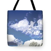 Blue Afternoon Tote Bag
