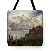 Clouds Bubbling Over The Superstitions  Tote Bag