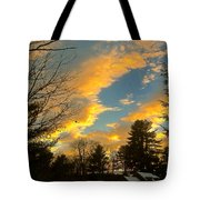 Clouds Catching The Evening Light Tote Bag