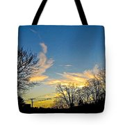 Clouds Dancing To The Sunset Light Tote Bag
