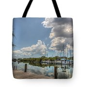 Clouds Down The Bay Tote Bag