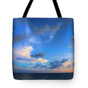 Clouds Drifting Over The Ocean Tote Bag