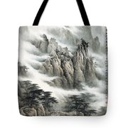 Clouds In The Mountain Tote Bag
