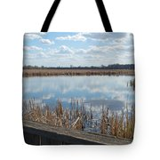Clouds In The Water Tote Bag