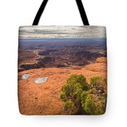 Clouds Junipers And Potholes Tote Bag