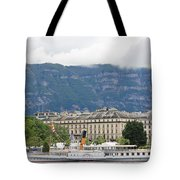 Clouds Mountains Building A Ship Tote Bag