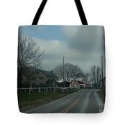 Clouds Move In On An Early April Morning Tote Bag