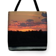 Clouds On Fire - Thousand Island Sunset -  Tote Bag