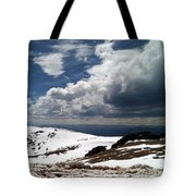 Clouds On The Mountain Tote Bag