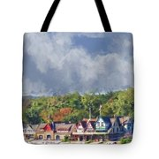 Clouds Over Boathouse Row Tote Bag