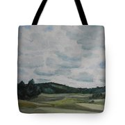 Clouds Over Boot Hill Tote Bag