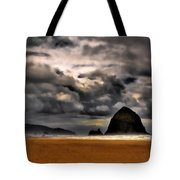 Clouds Over Cannon Beach Tote Bag