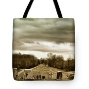 Clouds Over Cemetery Tote Bag