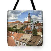 Clouds Over Cesky Krumlov Tote Bag