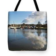 Clouds Over Cockwells Boatyard Mylor Bridge Tote Bag