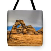 Clouds Over Delicate Arch Tote Bag