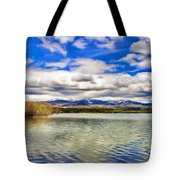 Clouds Over Distant Mountains Tote Bag