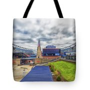 Clouds Over Gillette Stadium Tote Bag