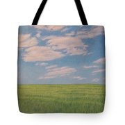 Clouds Over Green Field Tote Bag