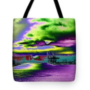Clouds Over Harbor Island Tote Bag