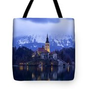 Clouds Over Lake Bled Tote Bag