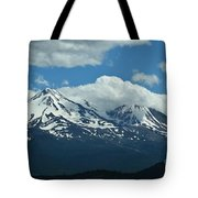Clouds Over Mt Shasta Tote Bag