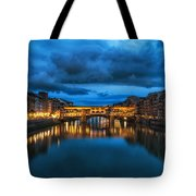Clouds Over Ponte Vecchio Tote Bag