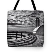 Clouds Over The Farm Tote Bag