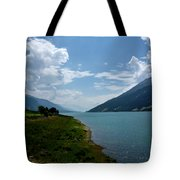 Clouds Over The Lake Tote Bag