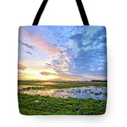 Clouds Over The Marsh 4 Tote Bag