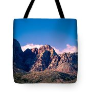 Clouds Over The Mountain Tote Bag