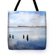 Clouds Over The Mullica River Tote Bag