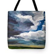Clouds Over The Prairie Tote Bag