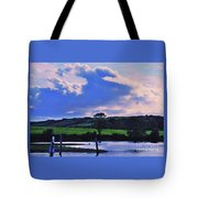 Clouds Over The Shannon, Ireland Tote Bag