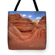 Clouds Over The Wave Tote Bag