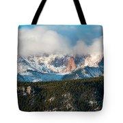 Clouds Receding On Pikes Peak Tote Bag