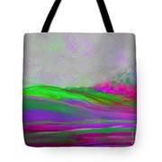 Clouds Rolling In Abstract Landscape Purple And Hot Pink Tote Bag