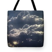 Cloudscape And River Tote Bag