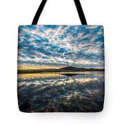 Cloudscape - Reflection Of Sky In Wichita Mountains Oklahoma Tote Bag