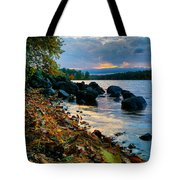 Cloudy Autumn Sunset Tote Bag