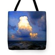 Cloudy Beach Tote Bag