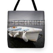 Cloudy Coronado Island Boat Tote Bag