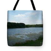 Cloudy Day At The Lake  Tote Bag