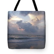Cloudy Day In Naples Tote Bag